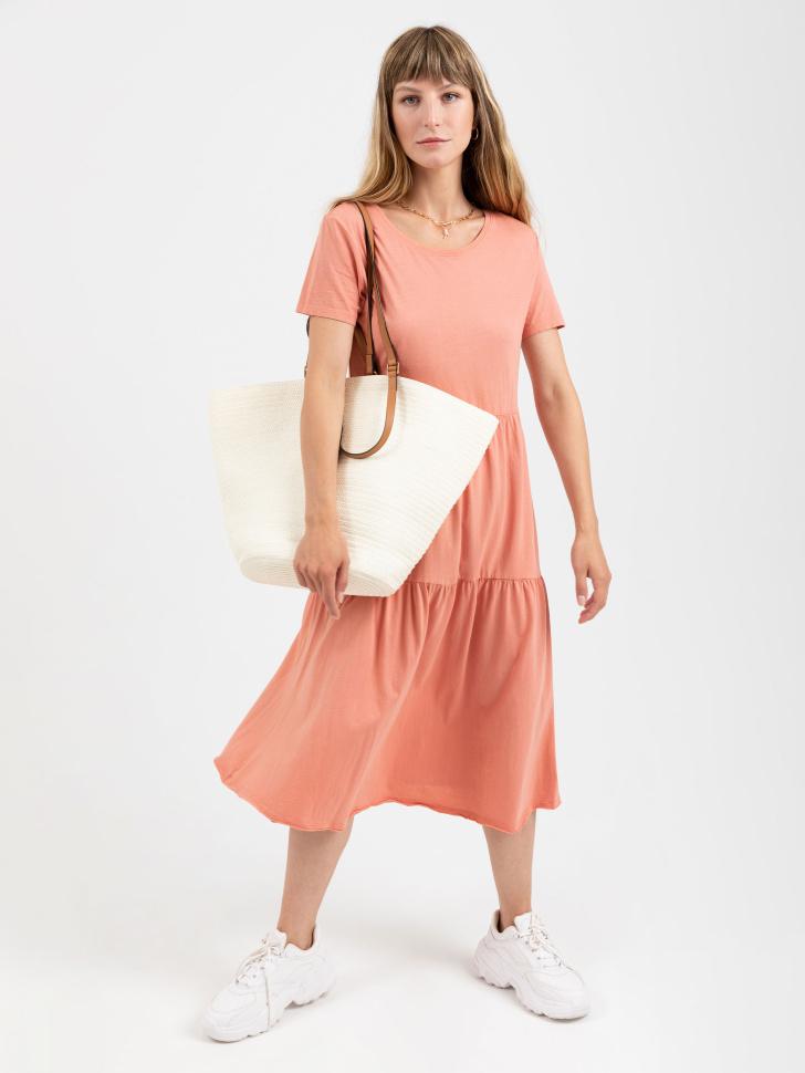 SELA платье женское (оранжевый, XS)