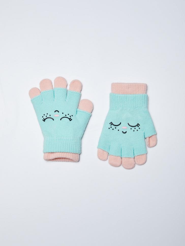 набор перчаток для девочек (принт, 3 - 4 YEARS)