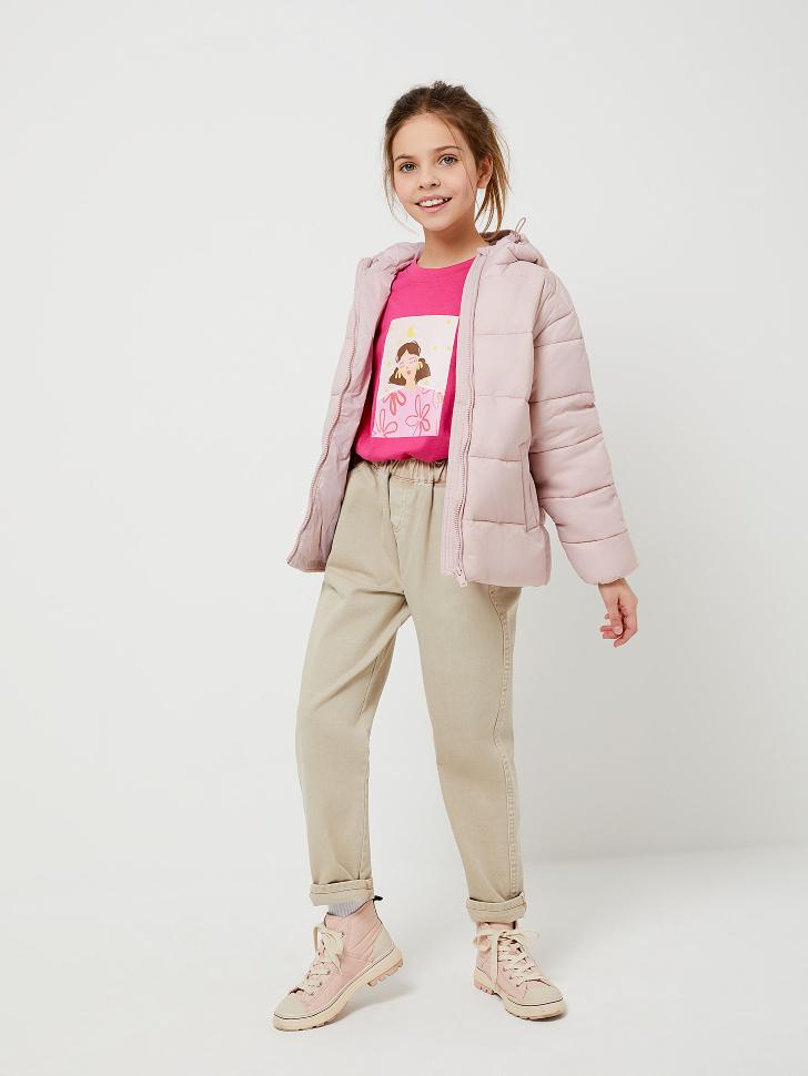 куртка для девочек (розовый, 128/ 8-9 YEARS)