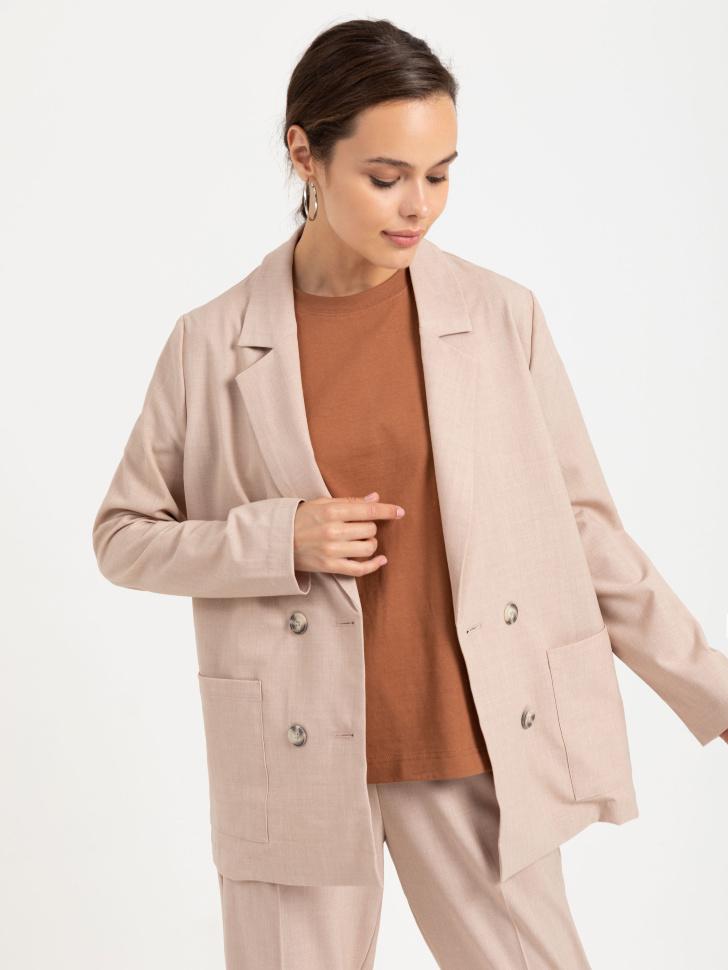 SELA Двубортный пиджак (бежевый, XS)