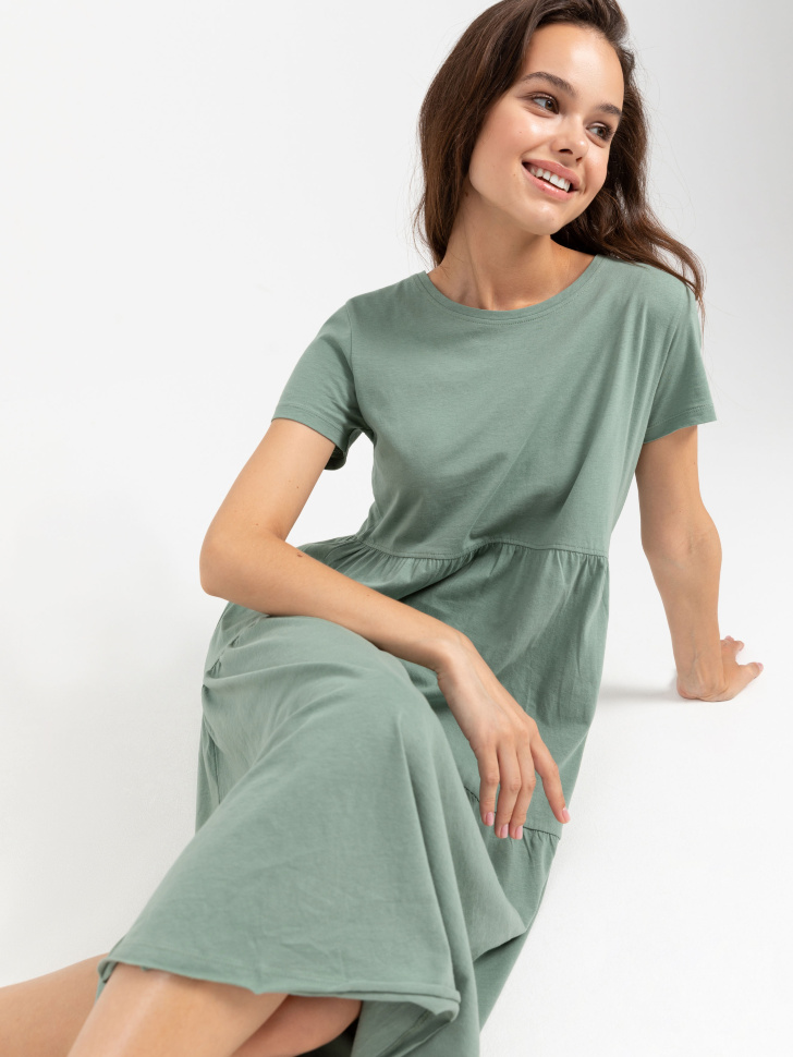 SELA платье женское (зеленый, XS)