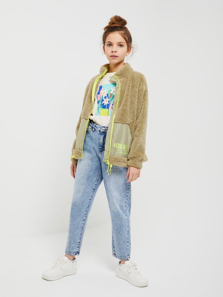 куртка для девочек (зеленый, 146/ 11-12 YEARS)