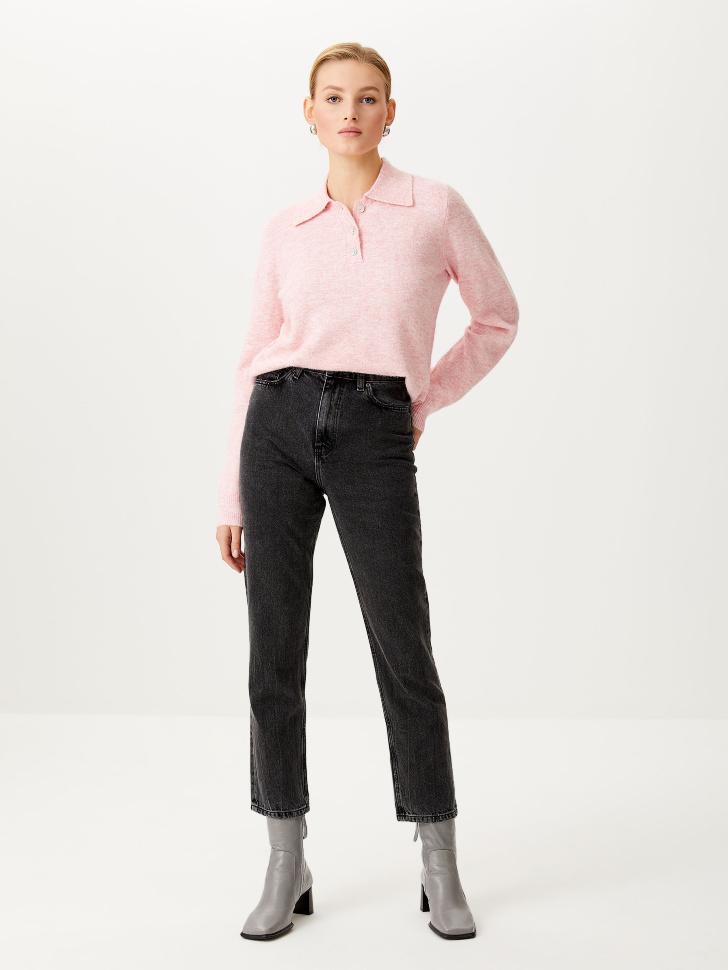 Укороченные джинсы Mom fit (серый, M)