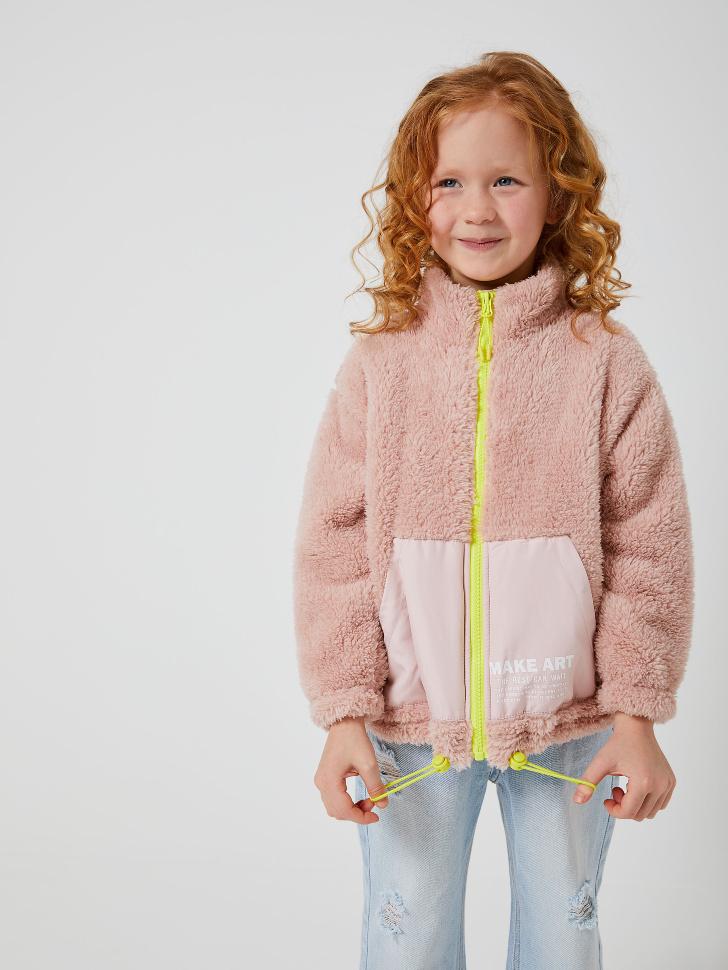 куртка для девочек (розовый, 116/ 6-7 YEARS)