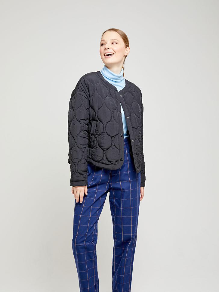 куртка стеганая (черный, L)