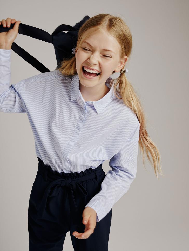 блузка для девочек (голубой, 140/ 10-11 YEARS)
