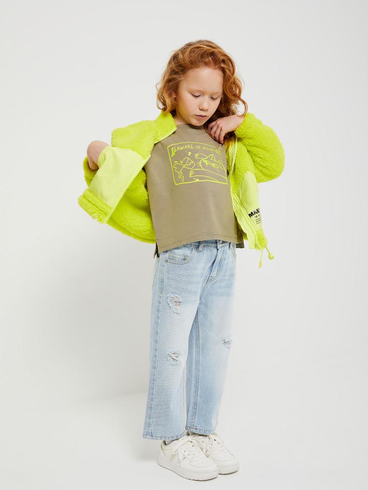 куртка для девочек (зеленый, 98/ 3-4 YEARS)