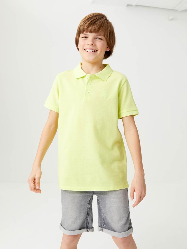 Футболка-поло для мальчиков (зеленый, 140/ 10-11 YEARS)
