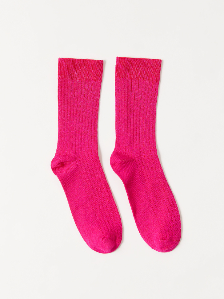 Носки в рубчик (розовый, 23-25)