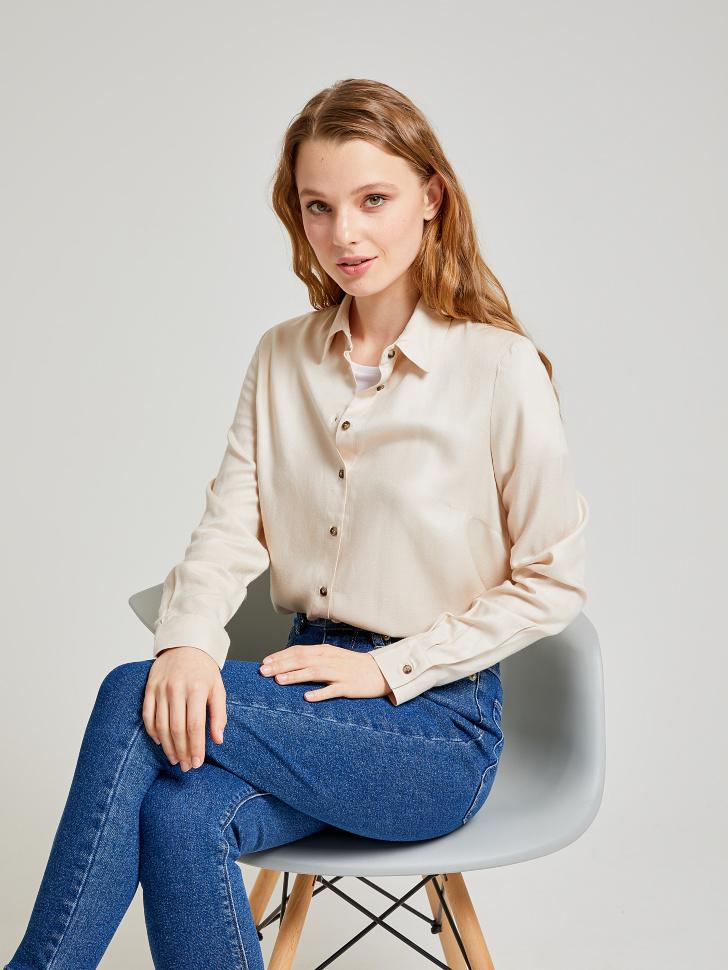 Купить со скидкой блузка из вискозы (бежевый, S)