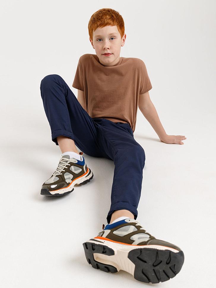 брюки прямого кроя для мальчиков (синий, 128/ 8-9 YEARS)