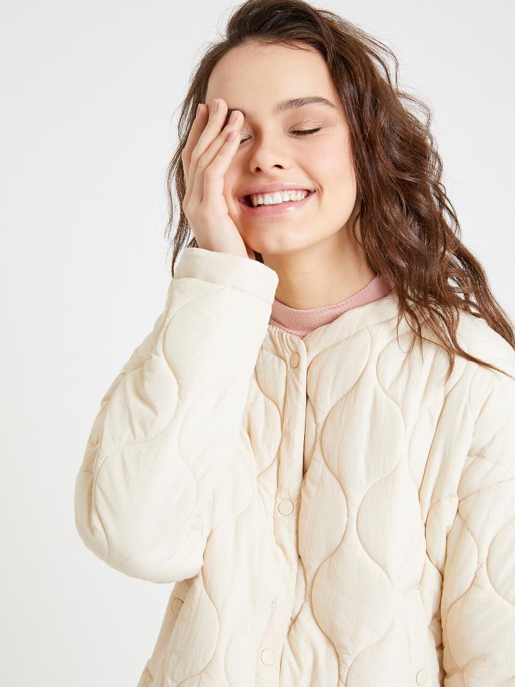 куртка стеганая (бежевый, S)