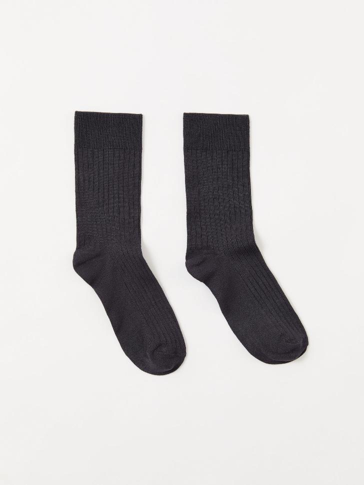 Носки в рубчик (серый, 23-25)
