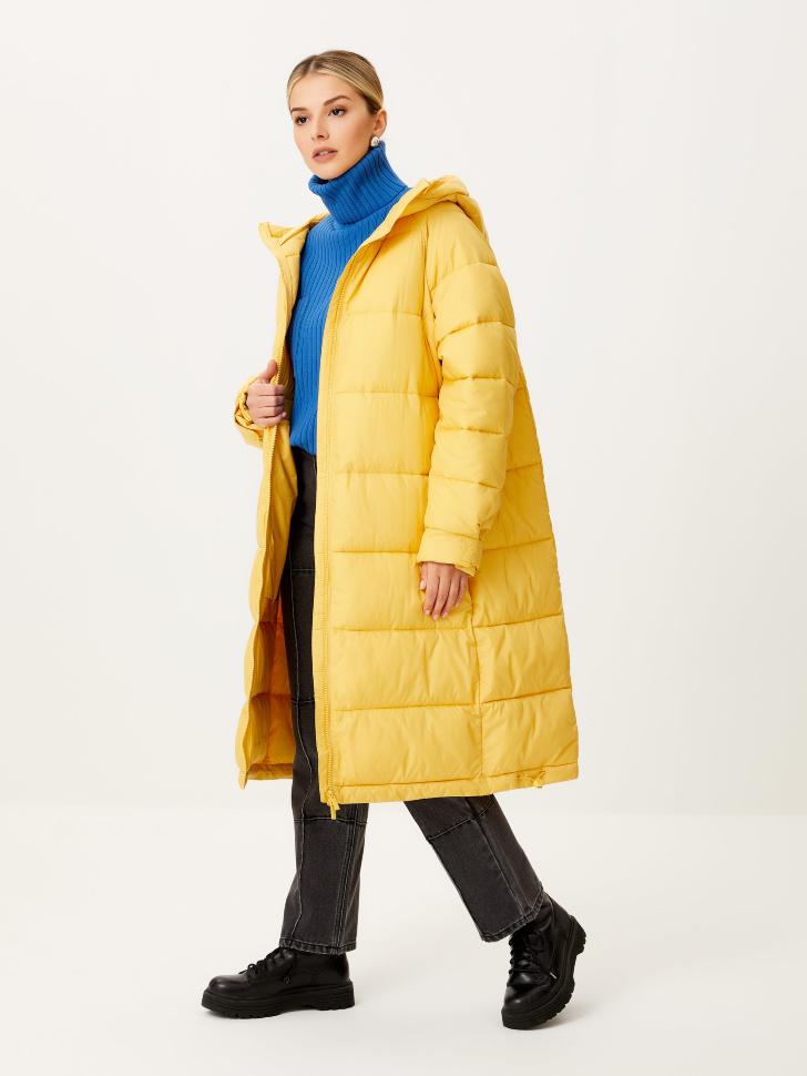 Базовое стеганое пальто (желтый, M)