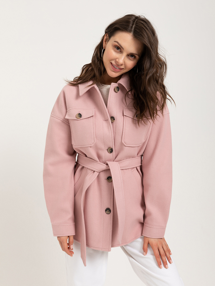 куртка-рубашка (розовый, S)