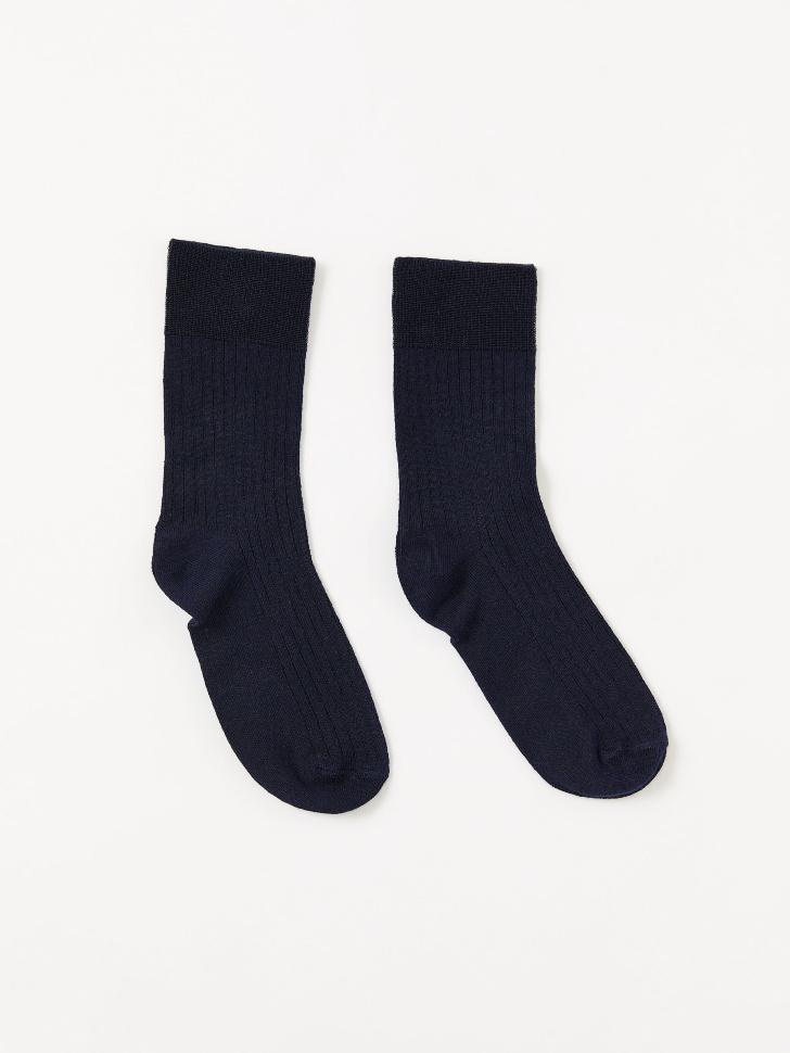 Носки в рубчик (синий, 23-25)