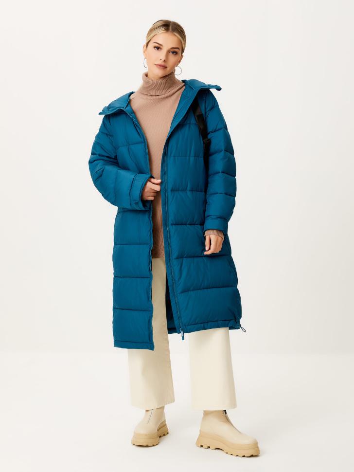 Базовое стеганое пальто (бирюзовый, S)