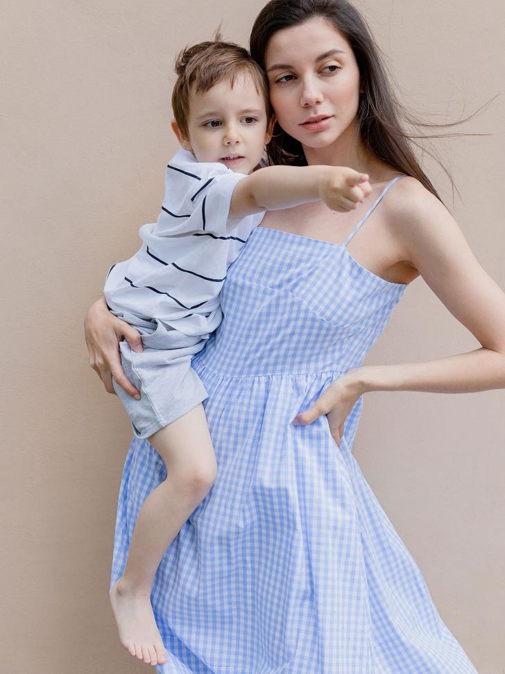 SELA платье женское (голубой, XS)