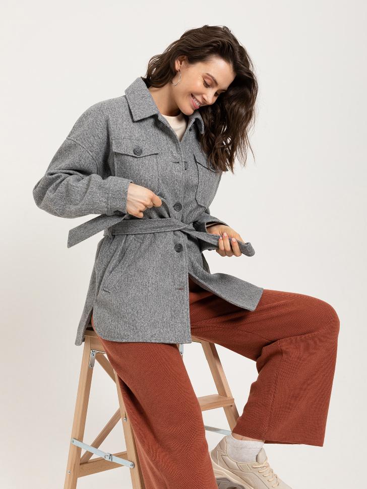 куртка-рубашка (серый, M)