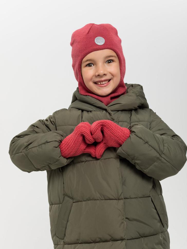 варежки для девочек (бордовый, 3 - 4 YEARS)