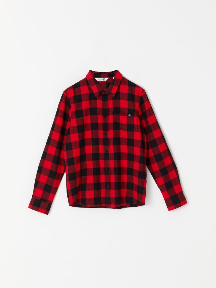 Рубашка в клетку для мальчиков (красный, 122/ 7-8 YEARS)