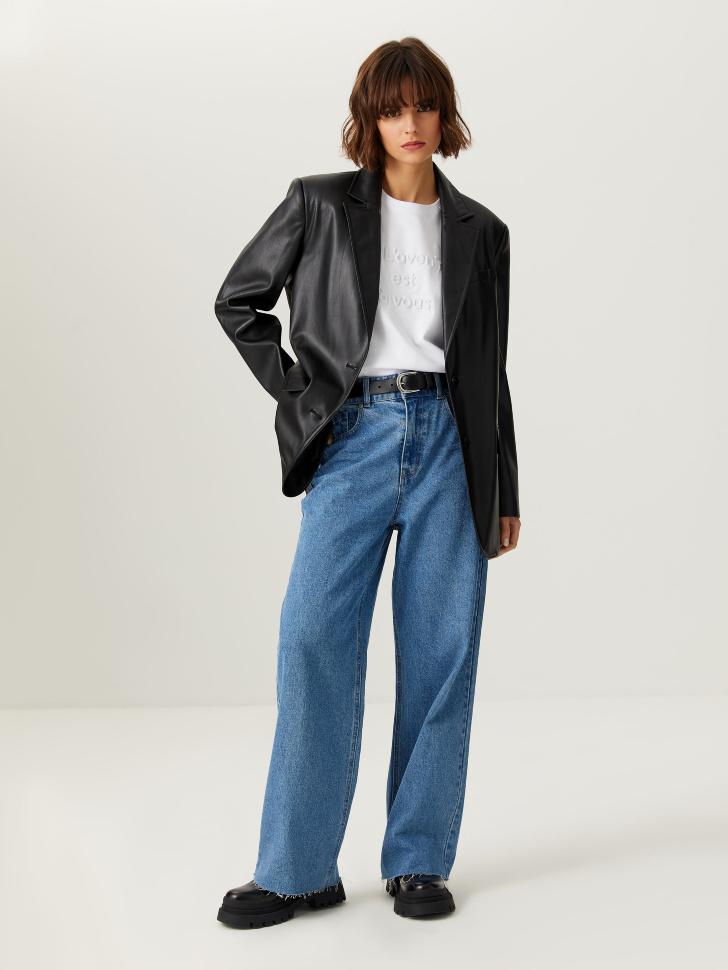 Широкие джинсы (синий, XXS)