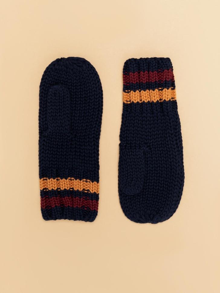 варежки для мальчиков (синий, 3 - 4 YEARS)