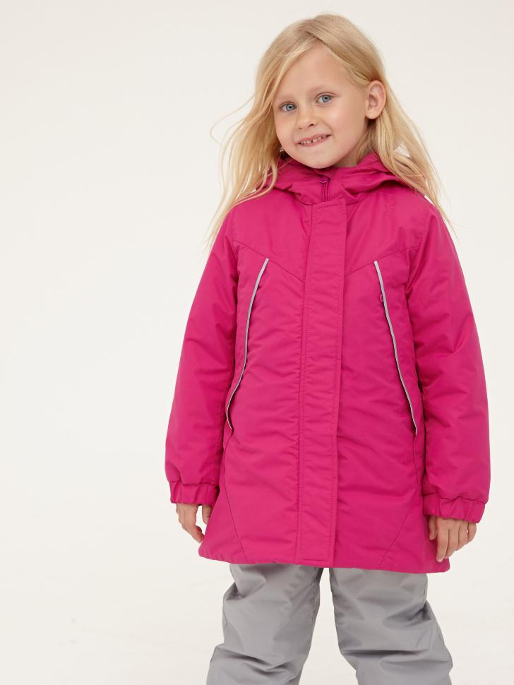 Купить со скидкой Пальто для девочек (малиновый, 5)
