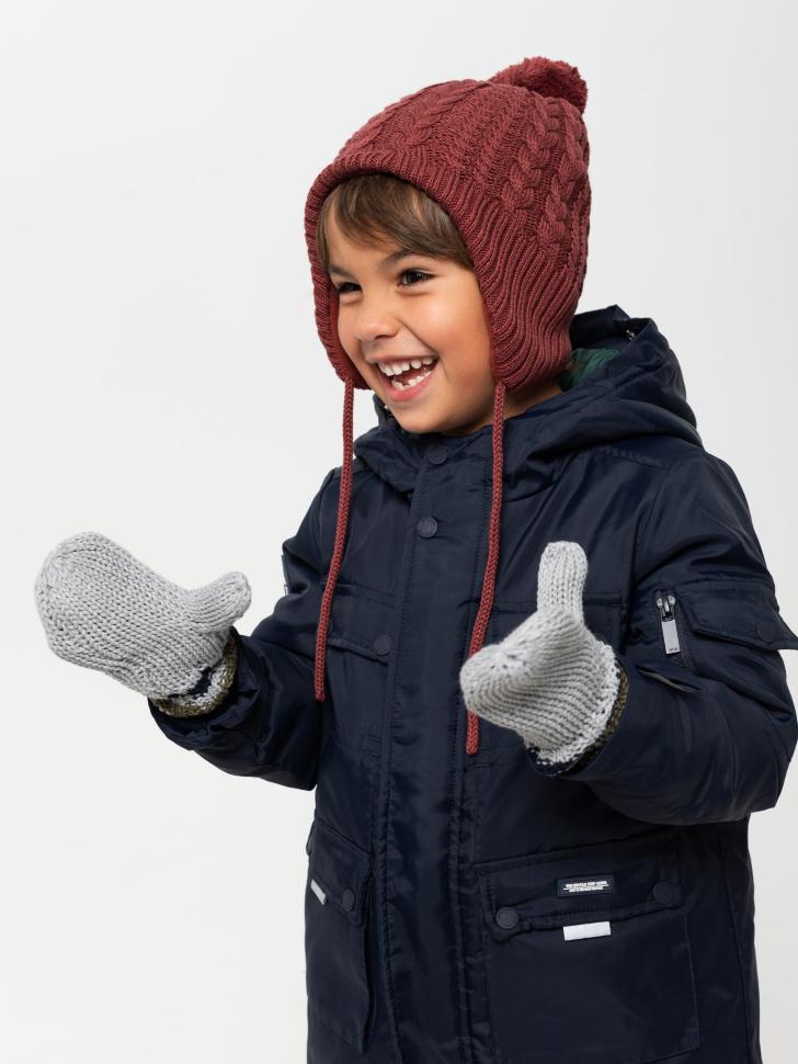 варежки для мальчиков (серый, 3 - 4 YEARS)