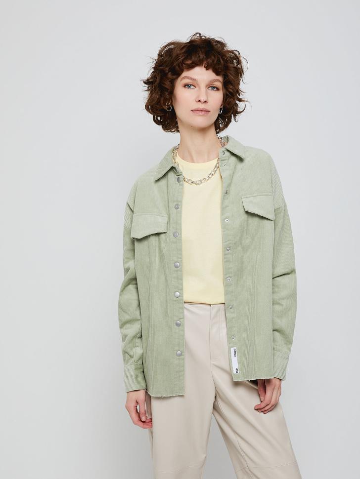 Рубашка из вельвета (зеленый, M)