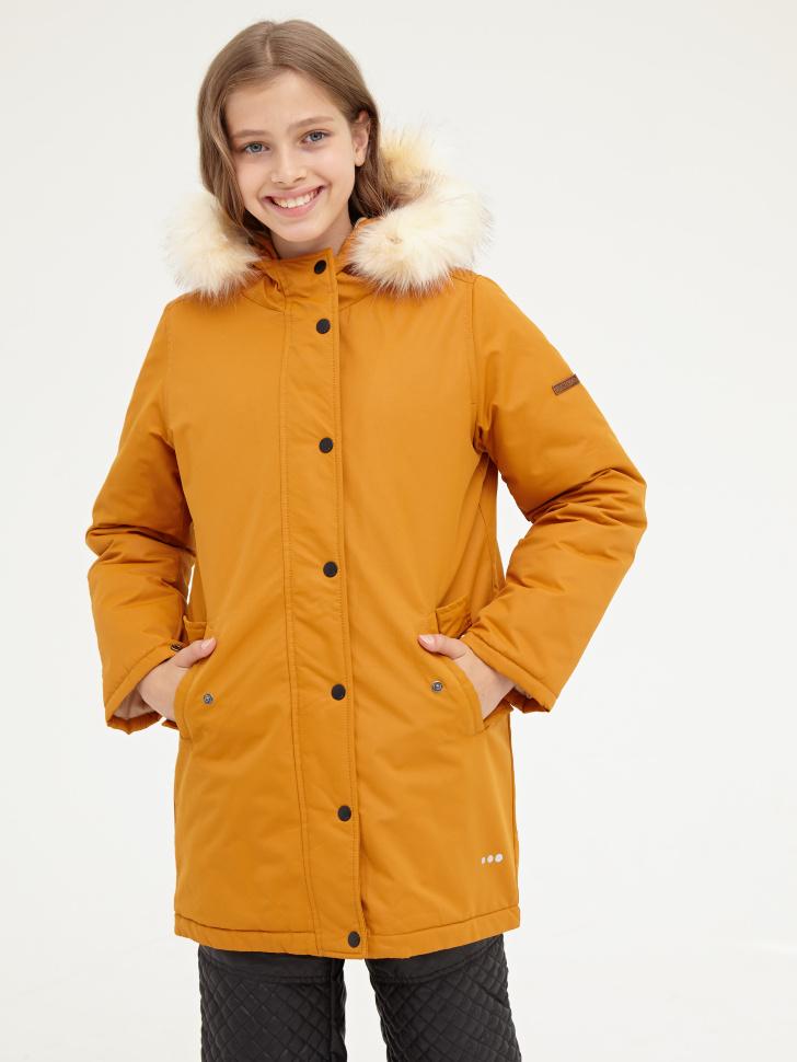 Купить со скидкой Пальто для девочки (желтый, 8)