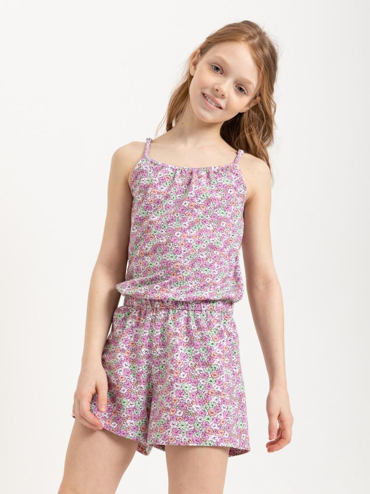 SELA Трикотажный комбинезон для девочек (розовый, 146/ 11-12 YEARS)