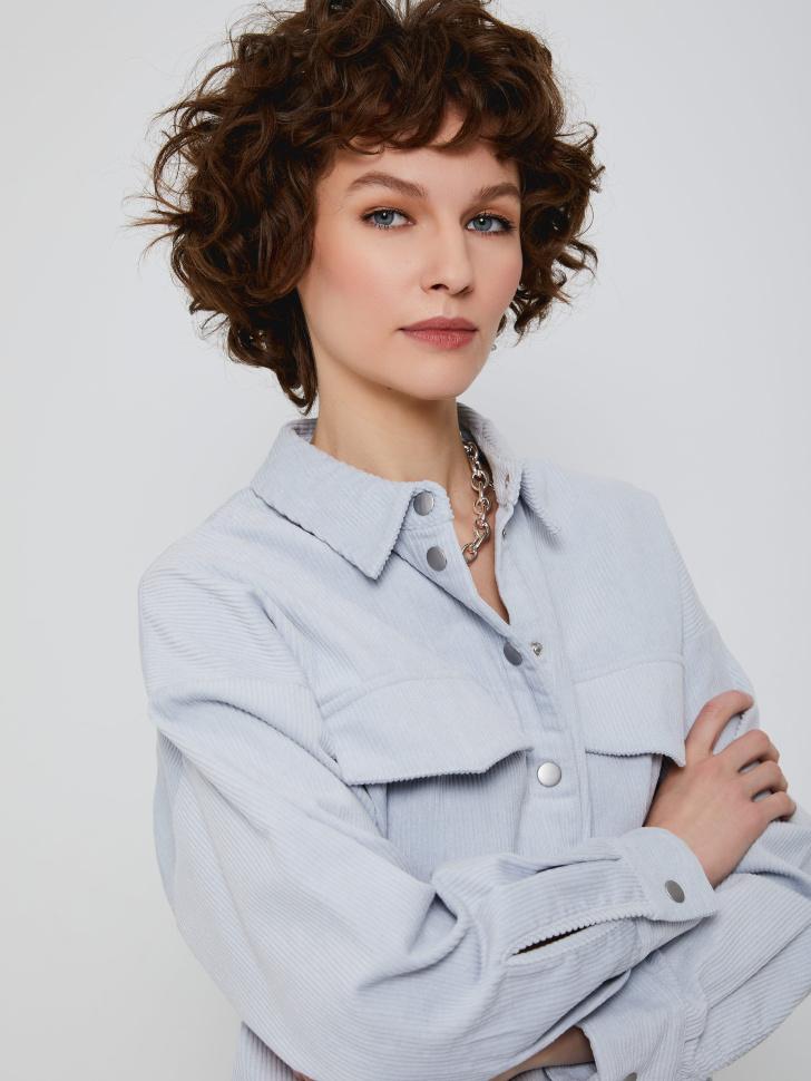 Рубашка из вельвета (голубой, XS)