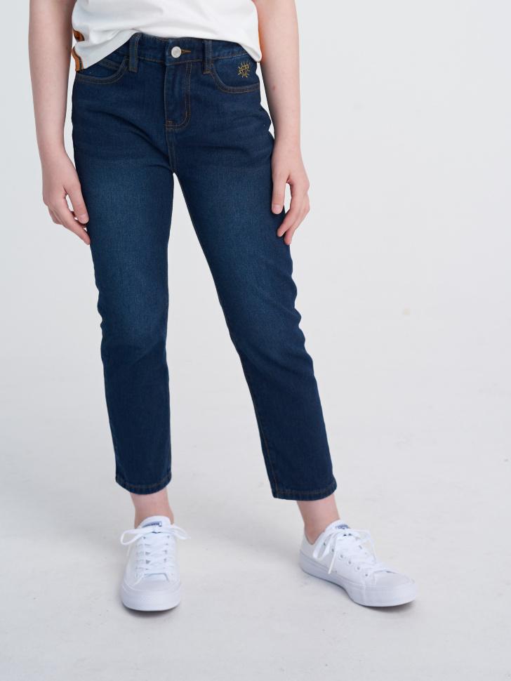 Купить со скидкой Брюки джинсовые для девочек (синий, 14)