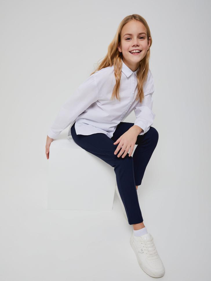 Блузка оверсайз для девочек (белый, 152/ 12-13 YEARS)