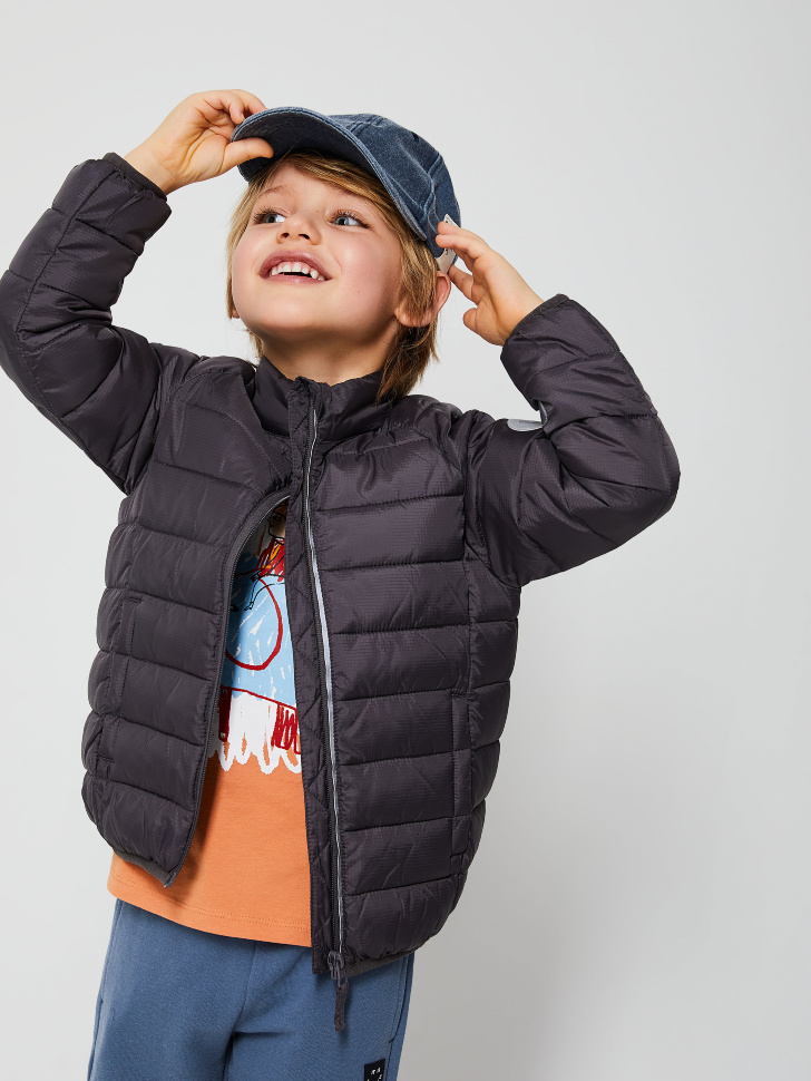 куртка для мальчиков (серый, 116/ 6-7 YEARS)