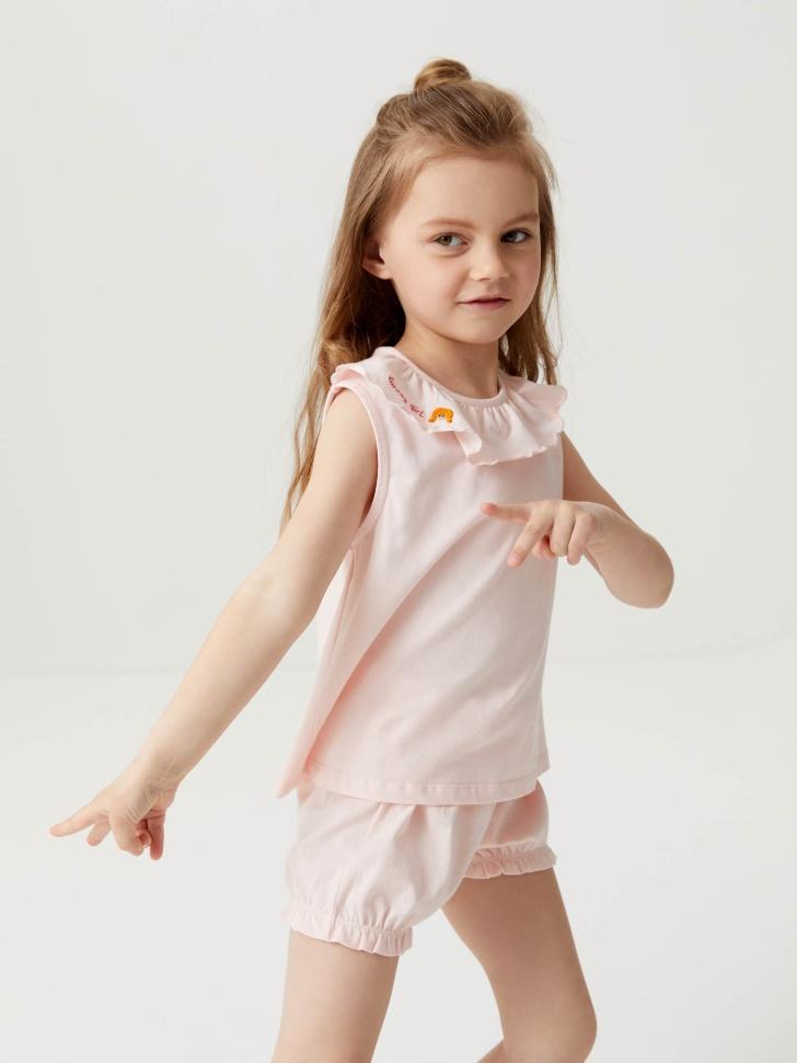 Трикотажная пижама для девочек (розовый, 104-110 (4-5 YEARS))