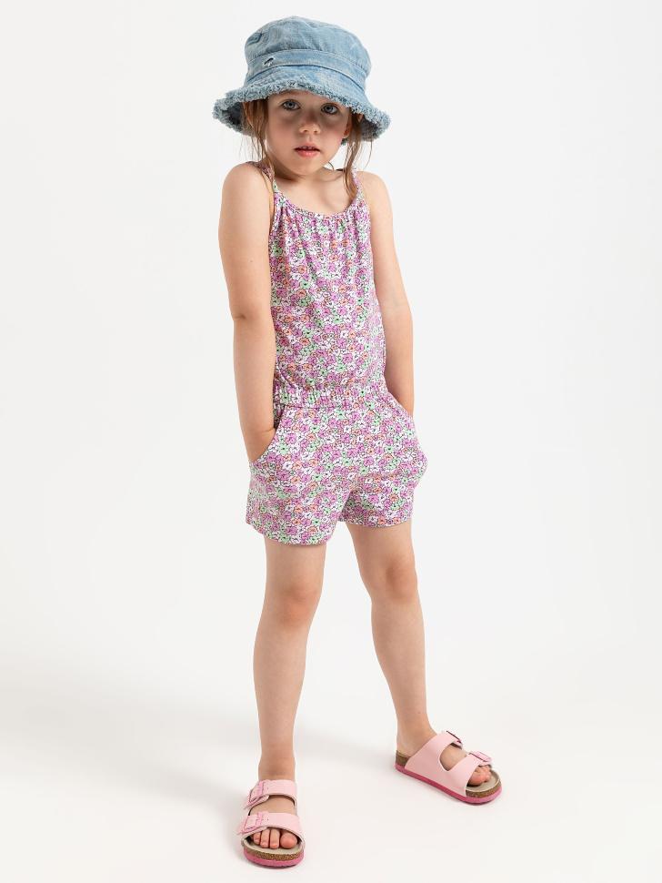 SELA Трикотажный комбинезон для девочек (розовый, 104/ 4-5 YEARS)