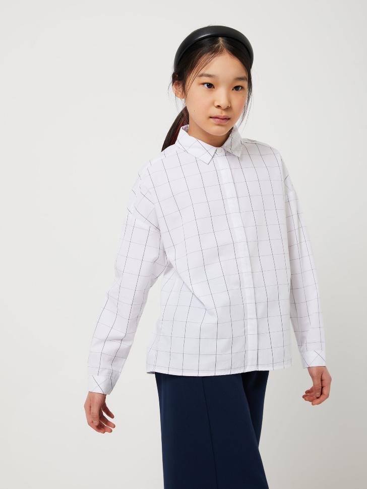 Блузка оверсайз для девочек (черный, 134/ 9-10 YEARS)