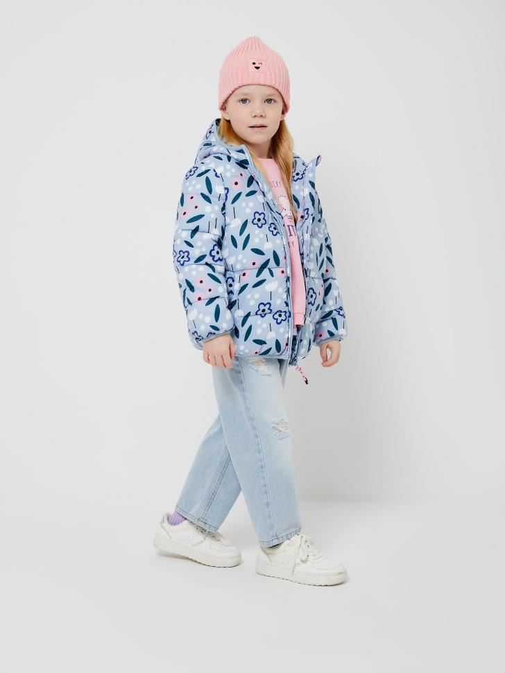 куртка для девочек (голубой, 116/ 6-7 YEARS)