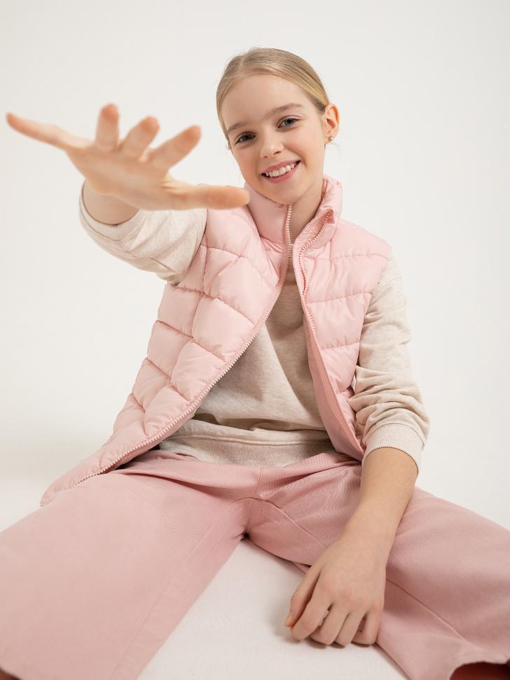 стеганый жилет для девочек (розовый, 152/ 12-13 YEARS)