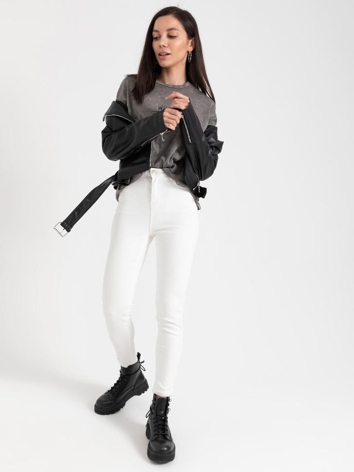 SELA Джинсы Super skinny (белый, XL)