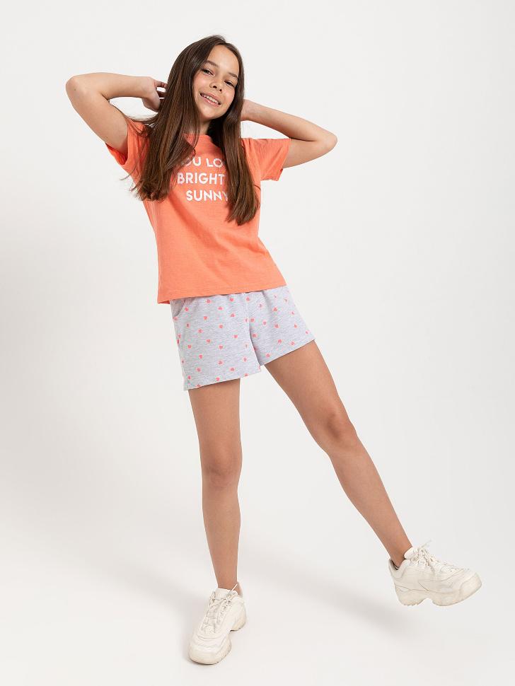 SELA шорты для девочек (серый, 146/ 11-12 YEARS)