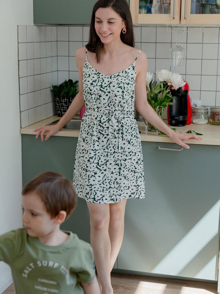SELA платье женское (принт, XS)