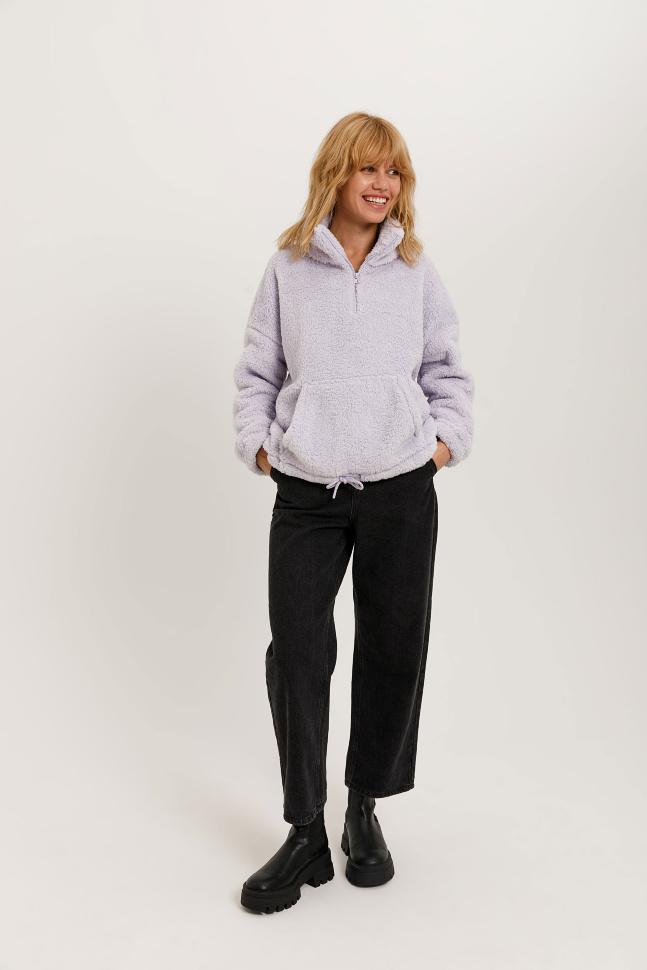 Широкие джинсы (серый, L)