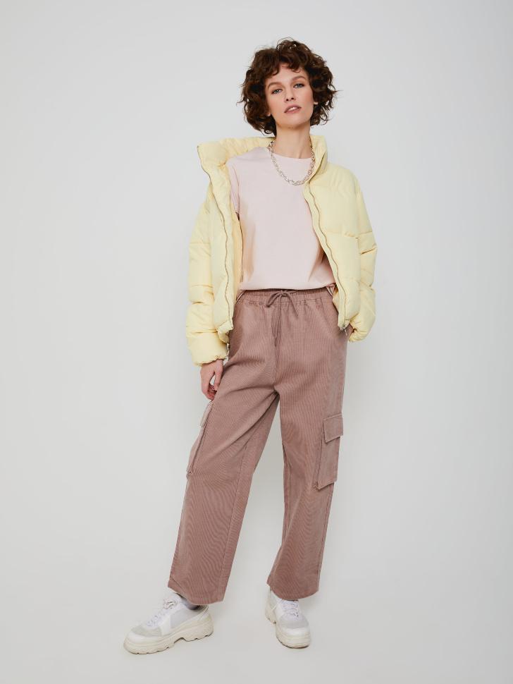 Широкие вельветовые брюки (коричневый, S)