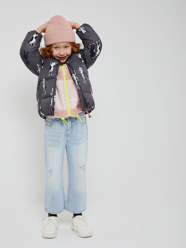 куртка для девочек (серый, 98/ 3-4 YEARS)