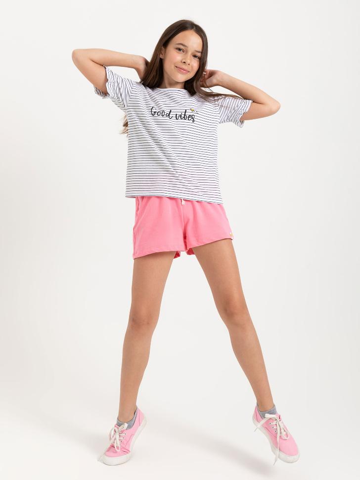 SELA шорты для девочек (розовый, 122/ 7-8 YEARS)