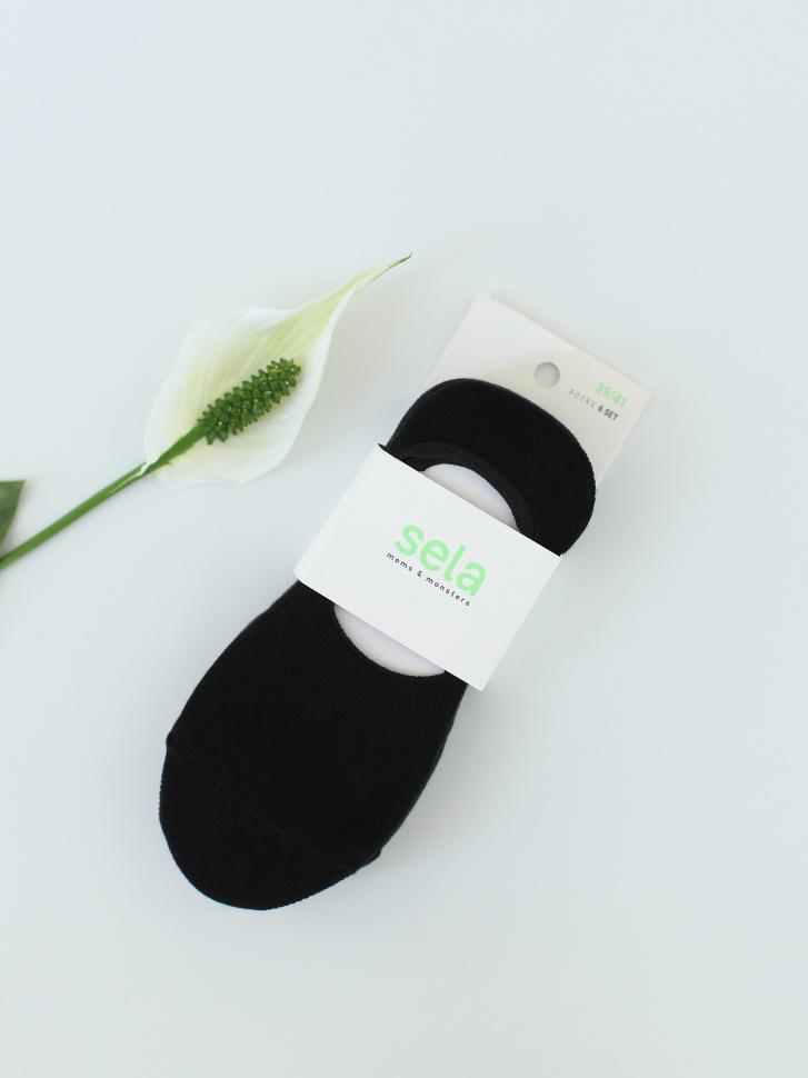 SELA набор носков для женщин (6 шт.) (черный, 23-25)