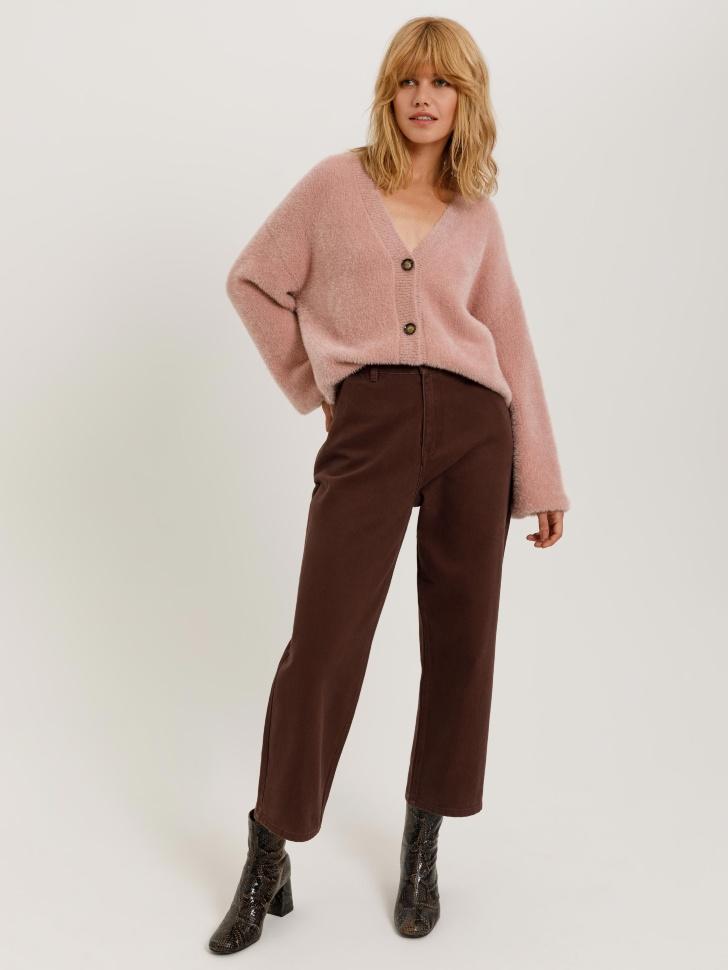 брюки джинсовые женские (коричневый, XXS)